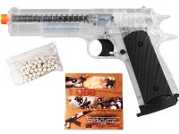 Aftermath Stunt 1911 CO2 Airsoft Pistol, Clear Airsoft gun