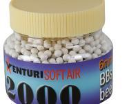 Air Venturi 6mm plastic airsoft BBs, 0.25g, 2000 rds, white