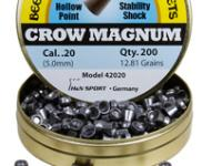 Beeman Crow Magnum .20 Cal, 12.81 Grains, Hollowpoint, 200ct