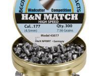 Beeman H&N High Speed Match .177 Cal, 7.56 Grains, Wadcutter, 300ct