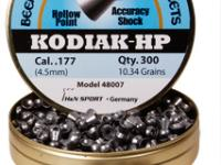 Beeman Kodiak HP .177 Cal, 10.34 Grains, Hollowpoint, 300ct