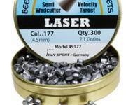 Beeman Laser .177 Cal, 7.1 Grains, Semi-Wadcutter, 300ct