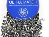 Beretta Ultra Match .177 Cal, 7.7 Grains, Wadcutter, 500ct
