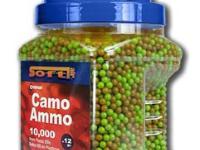 Crosman Camo Ammo 6mm plastic airsoft BBs, 0.12g, 10000 rds, green and tan