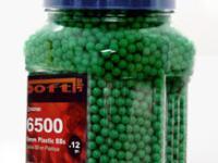 Crosman 6mm plastic airsoft BBs, 0.12g, 6500 rds, green