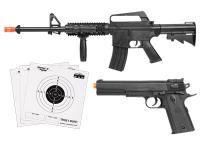 Colt A11RIS M1911 Spring Airsoft Kit, Black Airsoft gun