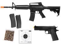 Colt M4A1 M1911A1 Spring Airsoft Kit, Black Airsoft gun
