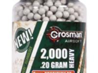 Crosman 6mm biodegradable airsoft BBs, 0.20g, 2000 rds, white
