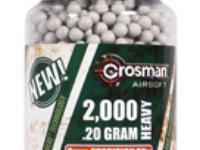 Crosman 6mm biodegradable airsoft BBs, 0.20g, 2000 rds, white