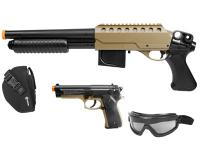 Crosman Recon Airsoft Kit, Brown/Black Airsoft gun