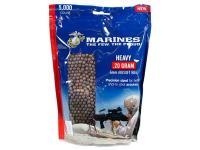 Crosman Marines Airsoft Heavy Plastic Airsoft BBs, 0.20g, 5,000 Rds, Brown