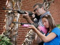 Dadz & Kidz Combo - Crosman Shockwave NP & Pink 760 Air rifle