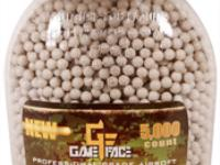 GameFace Game Face 6mm Biodegradable Airsoft BBs, 0.20g, 5000 rds, Brown
