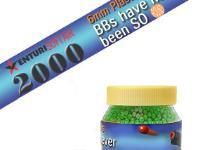 Air Venturi 6mm plastic airsoft BBs, 0.12g, 2000 rds, green