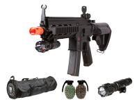 Heckler & Koch H&K 416 AEG Tactical Airsoft Rifle Kit, Black Airsoft gun