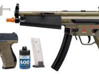 Heckler & Koch H&K Ultimate Airsoft Kit, AEG MP5 & Spring P99 Airsoft gun