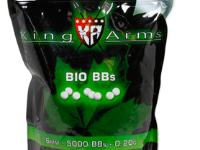 King Arms 6mm Biodegradable airsoft BBs, 0.20g, 5000 rds, white