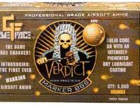 GameFace Game Face Verdict 6mm Marking Airsoft BBs, 0.20g, 5000 rds, Orange