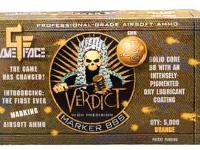 GameFace Game Face Verdict 6mm Marking Airsoft BBs, 0.25g, 5000 rds, Orange