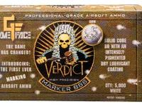 GameFace Game Face Verdict 6mm Marking Airsoft BBs, 0.25g, 5000 rds, White