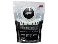 Mad Bull Match Grade 6mm plastic airsoft BBs, 0.25g, 4,000 rds, white