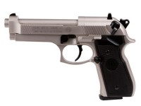 Beretta 92FS, Nickel, Black Grips Air gun