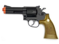 TSD Sports Spring Revolver 933 4 inch Barrel, Brown Airsoft gun
