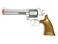 934 UHC 6 inch revolver, Silver/Brown Airsoft gun