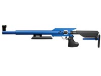AirForce Edge in Blue, Front Sight Only Air rifle