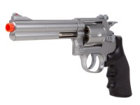 "TSD Sports Airsoft Spring Revolver - 6"" Barrel, Silver/Black"