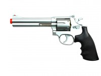 UHC TSD Sports Spring Revolver - 6 inch Barrel, Silver/Black Airsoft gun