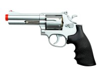 UHC TSD Sports Spring Revolver - 4 inch Barrel, Silver/Black Airsoft gun