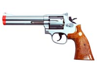 UHC Model 135 revolver 6 inch, Silver Airsoft gun