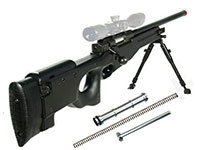 UTG Type 96 Black Airsoft Sniper w/Upgraded Spring Airsoft gun