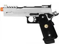 WE Hi-Capa 5.1 Dragon Type B Silver Metal Pistol Airsoft gun