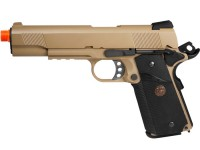 WE Full Metal 1911 MEU Desert Gas Pistol w/Rail