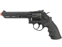 HFC HG-133 6 inch Barrel Gas Revolver, Black Airsoft gun