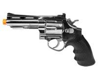 HFC HG-132 4 inch Barrel Gas Revolver, Silver Airsoft gun