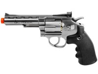 Dan Wesson 4 inch CO2 Airsoft Revolver, Silver Airsoft gun