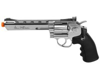 Dan Wesson 6 inch CO2 Airsoft Revolver, Silver Airsoft gun