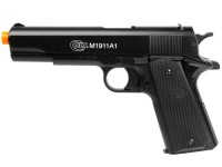 Colt M1911A1 Spring Airsoft Pistol, Black Airsoft gun