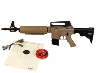 Crosman M4-177 Tactical Air Rifle Kit, Tan/Black Air rifle