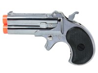 Marushin Derringer Gas Airsoft Pistol, Silver Airsoft gun