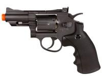 TSD/WG 708 CO2 Airsoft Revolver, Black Airsoft gun