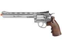 Dan Wesson CO2 Airsoft Revolver, Silver, 8 inch Airsoft gun
