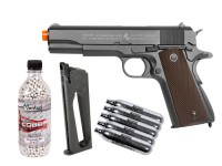 Colt 1911 CO2 Metal Blowback Airsoft Pistol, Kit