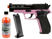SIG Sauer P226 Airsoft Pistol Kit, Pink/Black