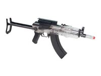 Crosman GameFace Tactical AK GF76C Airsoft Rifle, Clear  Airsoft gun