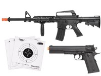 Colt A11RIS M1911 Spring Airsoft Kit, Black