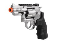 Black Ops / WG CO2 Airsoft Revolver, Silver, 2.5 inch Airsoft gun